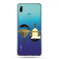 Huawei P Smart 2019 - silikonowe etui na telefon -Wróble na gałęzi