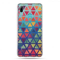 Huawei P Smart 2019 - silikonowe etui na telefon - Kolorowe trójkąty