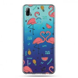 Huawei P Smart 2019 - silikonowe etui na telefon - Tańczące Flamingi