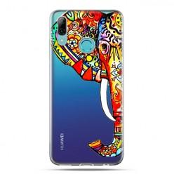 Huawei P Smart 2019 - silikonowe etui na telefon - Kolorowy słoń