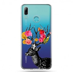 Huawei P Smart 2019 - silikonowe etui na telefon - Jelonek z kwiatami