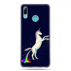 Huawei P Smart 2019 - silikonowe etui na telefon - Unikorn tęczowy