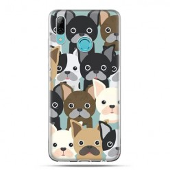 Huawei P Smart 2019 - silikonowe etui na telefon - Pieski Pug