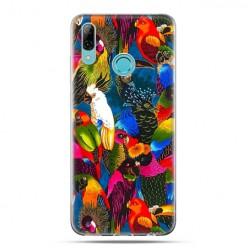 Huawei P Smart 2019 - silikonowe etui na telefon - Kolorowe papugi