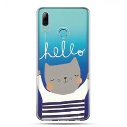 Huawei P Smart 2019 - silikonowe etui na telefon - Hello…kotek