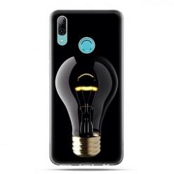 Huawei P Smart 2019 - silikonowe etui na telefon - Złota żarówka
