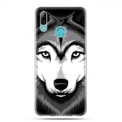 Huawei P Smart 2019 - silikonowe etui na telefon - Portret wilka