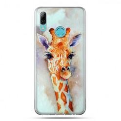 Huawei P Smart 2019 - silikonowe etui na telefon - Młoda żyrafa watercolor