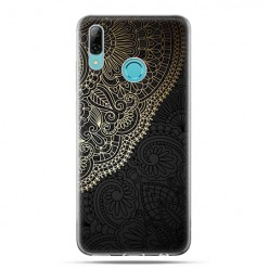 Huawei P Smart 2019 - silikonowe etui na telefon -Elegancka rozeta