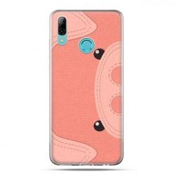 Huawei P Smart 2019 - silikonowe etui na telefon - Pluszowa Świnka