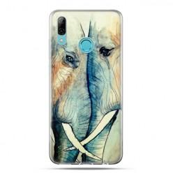 Huawei P Smart 2019 - silikonowe etui na telefon - Zakochane słonie