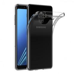 Samsung Galaxy A8 2018 - silikonowe etui na telefon Clear Case - przezroczyste.