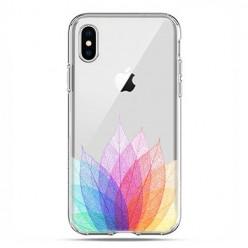 Apple iPhone X / Xs - etui na telefon - Tęczowe liście.