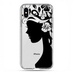 Apple iPhone X / Xs - etui na telefon - Kobieta w kwiatach