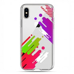 Apple iPhone X / Xs - etui na telefon - kolorowy splash