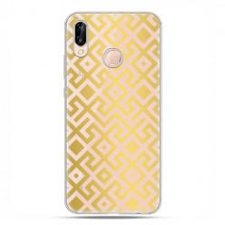 Huawei P20 Lite - etui nakładka na telefon Złoty labirynt.