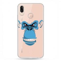 Huawei P20 Lite - etui nakładka na telefon Niebieska małpa.