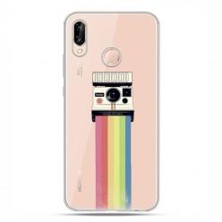 Huawei P20 Lite - etui nakładka na telefon Tęczowy aparat.