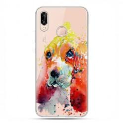 Huawei P20 Lite - etui nakładka na telefon Piesek watercolor.
