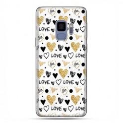 Samsung Galaxy S9 - etui na telefon z grafiką - Serduszka Love.