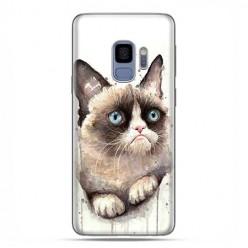 Samsung Galaxy S9 - etui na telefon z grafiką - Kot zrzęda watercolor.