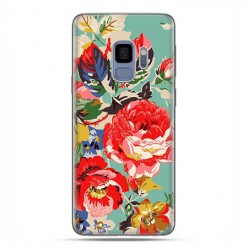 Samsung Galaxy S9 - etui na telefon z grafiką - Kolorowe róże.