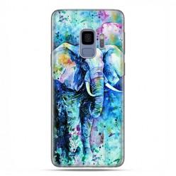 Samsung Galaxy S9 - etui na telefon z grafiką - Kolorowy słoń.