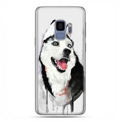 Samsung Galaxy S9 - etui na telefon z grafiką - Pies Husky watercolor.