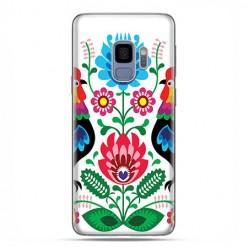 Samsung Galaxy S9 - etui na telefon z grafiką - Łowickie wzory kwiaty.