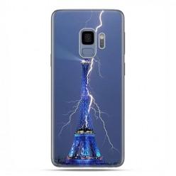 Samsung Galaxy S9 - etui na telefon z grafiką - Wieża Eiffla z błyskawicą.