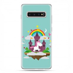 Samsung Galaxy S10 - etui na telefon z grafiką - Tęczowy jednorożec.