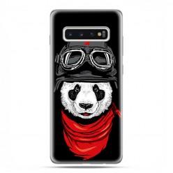 Samsung Galaxy S10 - etui na telefon z grafiką - Panda w czapce.