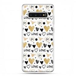 Samsung Galaxy S10 - etui na telefon z grafiką - Serduszka Love.