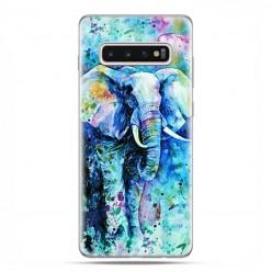Samsung Galaxy S10 - etui na telefon z grafiką - Kolorowy słoń.