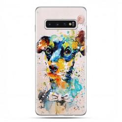 Samsung Galaxy S10 - etui na telefon z grafiką - Szczeniak watercolor.