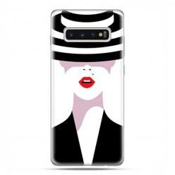 Samsung Galaxy S10 - etui na telefon z grafiką - Kobieta w kapeluszu.