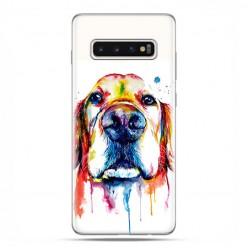 Samsung Galaxy S10 - etui na telefon z grafiką - Pies labrador watercolor.