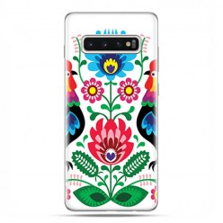 Samsung Galaxy S10 - etui na telefon z grafiką - Łowickie wzory kwiaty.