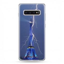 Samsung Galaxy S10 - etui na telefon z grafiką - Wieża Eiffla z błyskawicą.