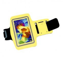 Sportowa opaska na ramię do biegania - żółta