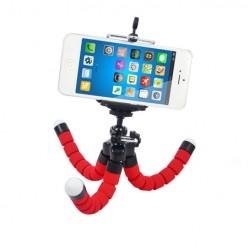 Mini statyw do telefonu elastyczny tripod - czerwony