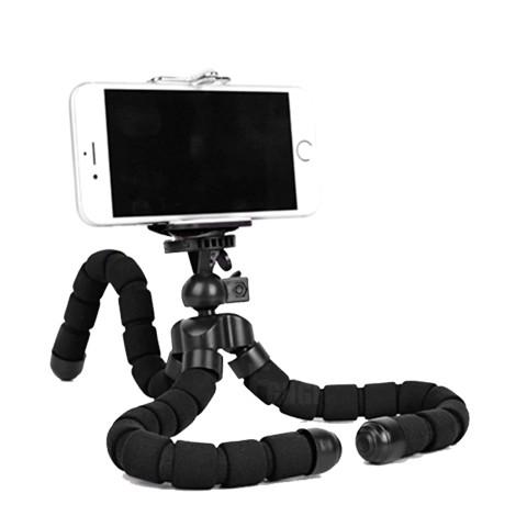 01fab6d5316268 Mini statyw do telefonu elastyczny tripod - czarny - Uchwyt na ...