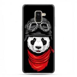 Samsung Galaxy A8 2018 - etui na telefon z grafiką - Panda w czapce.