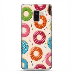 Samsung Galaxy A8 2018 - etui na telefon z grafiką - Kolorowe pączki.
