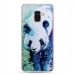 Samsung Galaxy A8 2018 - etui na telefon z grafiką - Miś panda watercolor.