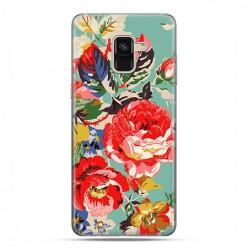 Samsung Galaxy A8 2018 - etui na telefon z grafiką - Kolorowe róże.