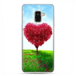 Samsung Galaxy A8 2018 - etui na telefon z grafiką - Serce z drzewa.