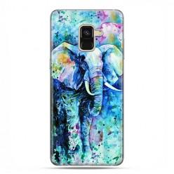 Samsung Galaxy A8 2018 - etui na telefon z grafiką - Kolorowy słoń.