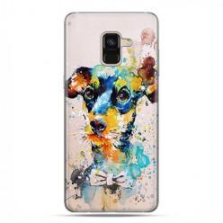Samsung Galaxy A8 2018 - etui na telefon z grafiką - Szczeniak watercolor.