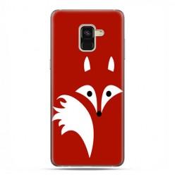 Samsung Galaxy A8 2018 - etui na telefon z grafiką - Czerwony lisek.